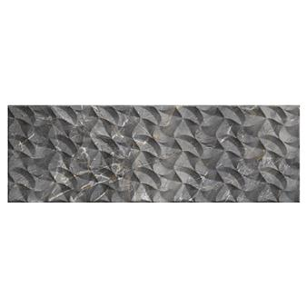 Nebula Grey Decor Gloss Wall Tile - 900x300mm